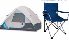 Dome Tent Camping Set 4 Persons Canopy Outdoor Waterproof 4 Beach Folding Chairs #BushnellTent #Dome