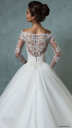 amelia sposa 2016 wedding dresses off the shoulder lace long sleeves embroidered. - - amelia sposa 2016 wedding dresses off the shoulder lace long sleeves embroidered bodice gorgeous a line ball gown wedding dress nova back close up Source by 2016 Wedding Dresses, Wedding Attire, Bridal Dresses, Wedding Gowns, Lace Wedding, Wedding Simple, Wedding Ideas, Wedding Ceremony, Wedding Venues