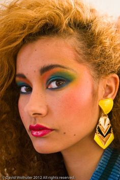 1980s women's make-up trends.wow...she would've had instagram and YouTube ON LOCK with the step by step tutorials