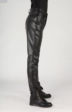 1f42834dcd2 Plus size slim male leather pants male trousers tight leather pants male  motorcycle pants pantalon homme pants men trousers - Online Shopping in  USA  ...
