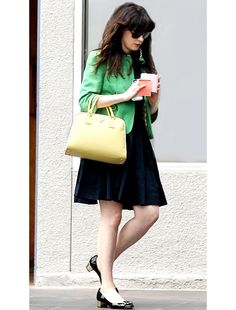 get the details on Zooey Deschanel's ladylike outfit!