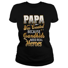 Papa Was Created because Grandkids T Shirt - Unisex Tri-Blend T-Shirt by American Apparel  #gift #ideas #Popular #Everything #Videos #Shop #Animals #pets #Architecture #Art #Cars #motorcycles #Celebrities #DIY #crafts #Design #Education #Entertainment #Food #drink #Gardening #Geek #Hair #beauty #Health #fitness #History #Holidays #events #Home decor #Humor #Illustrations #posters #Kids #parenting #Men #Outdoors #Photography #Products #Quotes #Science #nature #Sports #Tattoos #Technology…
