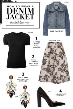 A denim jacket is a great closet staple. Click here for inspiration on how to look amazing.