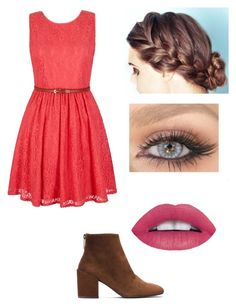 """""""Good School Dance Outift"""" by graciesmiles1324 ❤ liked on Polyvore featuring Yumi and Stuart Weitzman"""