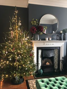 """Stacey Dyer, """"End of the Row"""". A Classical Edwardian House Living Room With Fireplace, New Living Room, Living Room Decor, Edwardian Fireplace, Edwardian House, Victorian House Interiors, Victorian Living Room, Christmas Room, Living Room Inspiration"""