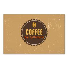 Biglietto da visita bifacciale Bar Caffetteria personalizzabile direttamente online tramite il nostro editor grafico. Ottima qualità e ottimi prezzi.
