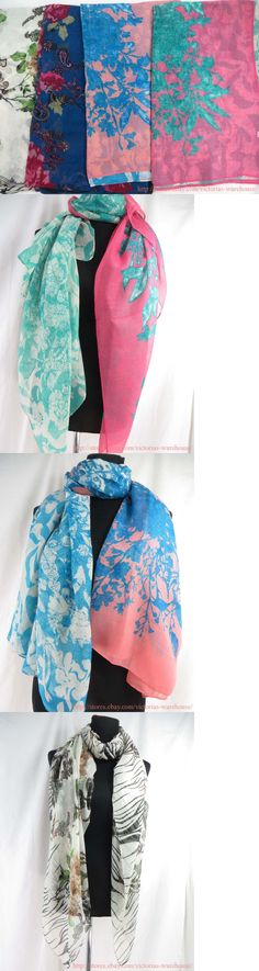 Scarves Wraps 50982: Us Seller |Lot Of 10 Wholesale Beachwear Vintage Floral Large Scarf Beach Sarong -> BUY IT NOW ONLY: $34.25 on eBay!