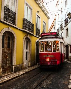 Lisbon, Portugal Places In Portugal, Spain And Portugal, Portugal Travel, Azores, Vacation Trips, Vacations, Lisbon Tram, Tramway, Bujo