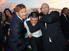 Pin for Later: All the Stars That Flocked to France For the Cannes Film Festival  Kellan Lutz and Jason Statham got playful with Victor Ortiz on Sunday.