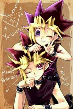 Yugioh Friends Atem and Yugi, if not twins, they can totally be brothers Yu Gi Oh, Yugioh Fanfiction, Chibi, Yugioh Yami, Yugioh Collection, Animation, Happy B Day, Manga Games, Girl Cartoon