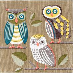 three owls from Paper Source @Katie Schmeltzer Hatch