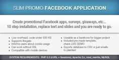 Slim Promo Facebook Application