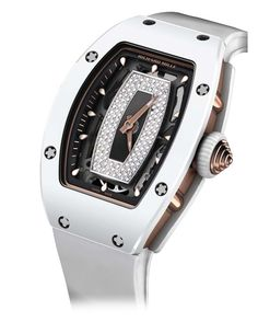 The skeletonised automatic movement of the @richardmilleeu RM 07-01 is partly shielded by a #diamond set centre but can be viewed in all its complexity through the sapphire crystal case back #richardmille #luxurywatch See more at www.thejewellerteditor.com