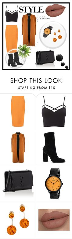 """""""Untitled #4"""" by lejlakovac95 ❤ liked on Polyvore featuring Boohoo, Charlotte Russe, Warehouse, Alexander Wang, Yves Saint Laurent, Simplify, Be-Jewelled and plus size clothing"""