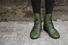 Had a dream last night that I had awesome green boots, I was disappointed to wake up without them. This is the closest I could find. :)