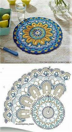 Transcendent Crochet a Solid Granny Square Ideas. Inconceivable Crochet a Solid Granny Square Ideas. Motif Mandala Crochet, Crochet Blocks, Granny Square Crochet Pattern, Crochet Diagram, Crochet Stitches Patterns, Crochet Chart, Crochet Squares, Granny Squares, Mandala Rug