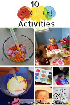 10 Colour Mixing Activites and Mix It Up Book Review -- some of the color mixing ideas are mess-free and some could be considered science experiments