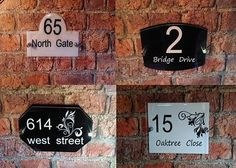 ba65c889451a Modern House Sign Door Number Street Address Glass Effect Acrylic Plaque    Plaques & Signs   Home Decor