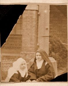 Therese with Sr Mary of the Trinity who later gave evidence at the hearings into Therese's possible beatification. She criticised Mother Mary de Gonzague's erratic management when Prioress, saying it had thrown the community into confusion.