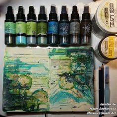 Marta Lapkowska: Art Journals and magical backgrounds + VIDEO tutorial - Today Pin Mixed Media Journal, Mixed Media Collage, Mixed Media Tutorials, Art Tutorials, Mix Media, Art Journal Pages, Art Journals, Books Art, Art Doodle