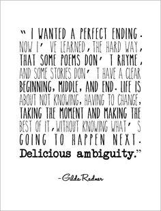 Delicious ambiguity great Gilda Radner quote by jenniferdare, $10.00
