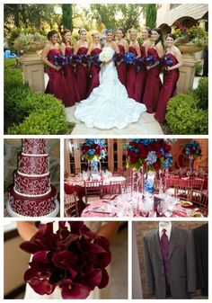 Burgundy And Navy Wedding Colors