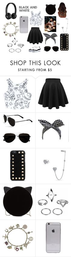 """""""black and white"""" by nosaj14 ❤ liked on Polyvore featuring Civil, Retrò, Calvin Klein, Valentino, Bling Jewelry, Charlotte Olympia, Tiffany & Co. and Beats by Dr. Dre"""