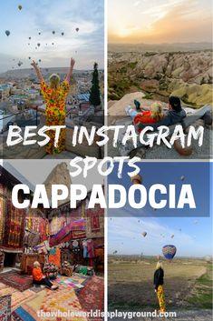 The best Instagram spots in Cappadocia, Turkey. Where to take best Instagram photos in Cappadocia. #Turkeytravel #Travel #Turkey #Cappadocia #Instagram