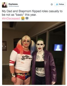 These parents and their gender-swapped costumes. | 19 Hilarious Tweets That Prove Families Were So Damn Funny In 2016
