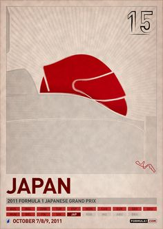 Formula 1 Poster Series by PJ Tierney, via Behance