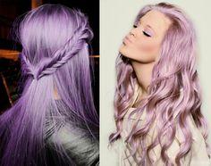 cabelos coloridos lilas - Pesquisa Google