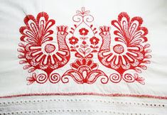 Crewel embroidery employs this interesting Jacobean design, where we use a long & short soft shading in four colors to introduce the gradient into the embroidery texture. Creative Embroidery, Crewel Embroidery, Cross Stitch Embroidery, Embroidery Patterns, Machine Embroidery, Butterfly Embroidery, Learn Embroidery, Cross Stitches, Viking Dress