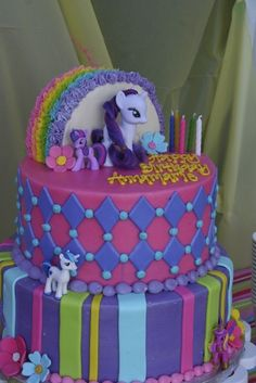 "Photo 1 of 28: My Little Pony and Rainbows / Birthday ""Annamarie's My Little Pony Party"" 