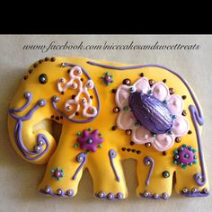 Elephant figolli... I wish I could make things like this. So pretty!