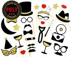1920's Photo Props - FELT - Classy Photo Booth Props - Roaring 20'