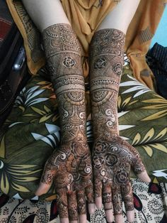 Bridal mehndi or henna design