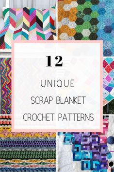 Get 12 of the best crochet scrap blanket patterns and ideas for free! Scrap afghans and blankets are made with left over yarn that you aren't sure what to make with. Make one of these beautiful and fun blankets to help cut down your yarn stash! Afghan Crochet Patterns, Crochet Stitches, Knitting Patterns, Crochet Afghans, Pillow Patterns, Baby Afghans, Scrap Yarn Crochet, Knit Crochet, Free Crochet