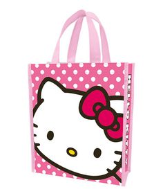 Another great find on  zulily! Pink Polka Dot  Hello Kitty  Recycled Tote 10dc90f2a2