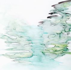 28 of 100, #100littleartworks series by Lesley Frenz, watercolor on vellum, 6x6 #abstractart #watercolor #interiordesign #paintings #fineart