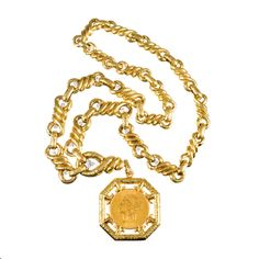 DAVID WEBB Extra Large Coin Medallion | From a unique collection of vintage drop necklaces at https://www.1stdibs.com/jewelry/necklaces/drop-necklaces/