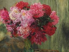 Lawrence Alma-Tadema Japanese Peonies 19th century
