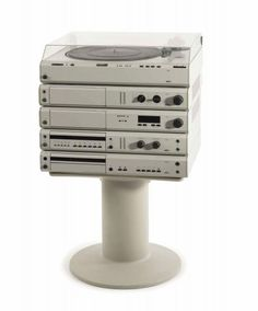 Dieter Rams; Peter Hartwein. 'Atelier' stereo system, 1984-89.