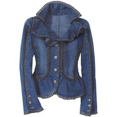 Ruffled Denim Jacket (not a fan of the denim but would be gorgeous in another fabric--or even black denim).