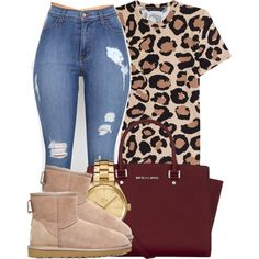 I'm tired & I don't feel like walking to the fridge. by bria-myell on Polyvore featuring Marc by Marc Jacobs, UGG Australia, MICHAEL Michael Kors and Lacoste