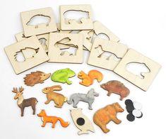 Lesní zvířátka – magnetky se šablonkou | DomDom - dřevěné výrobky pro kreativní činnost, didaktické pomůcky, suvenýry Recycling, Xmas, Cnc, Puzzles, Instagram, Videos, Games, Wood, Woodworking Toys