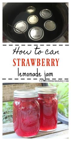 If you like strawberry lemonade, then you will … Canning strawberry lemonade jam. If you like strawberry lemonade, you will love this simple homemade strawberry lemonade jam. Simple water bath for beginners. Jelly Recipes, Jam Recipes, Canning Recipes, Detox Recipes, Canning 101, Canning Water, Easy Canning, Canning Jars, Drink Recipes