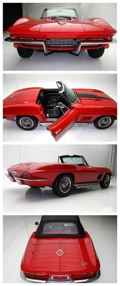 Pure sex appeal: 1967 Chevrolet Corvette #OldSkool #Cool