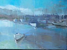 Harbour oil on canvas Artist Painting, Painting & Drawing, Mary Pratt, Canadian Art, Artist At Work, Color Inspiration, Landscape Paintings, Oil On Canvas, Contemporary Art