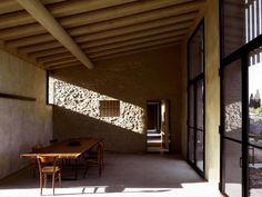 Brick house over an old stone barn, Italy
