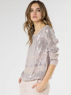 sequin blouse in soft purple #fw16 #fashion #patriziapepe #style